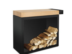 Ofyr – Butcher blok storage 90 black + teak wood