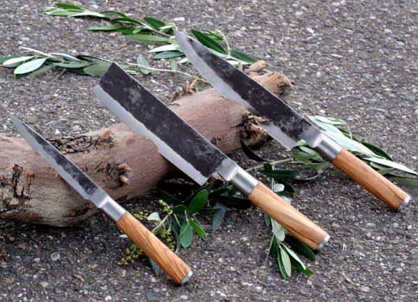 Olive forged 3-delige set